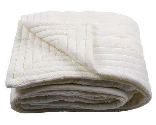 CREAM COLOUR DESIGNER QUILTED MICROFIBRE VELVET TEXTURED THROW